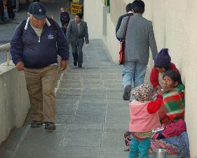 Tiggere på gaten i La Paz