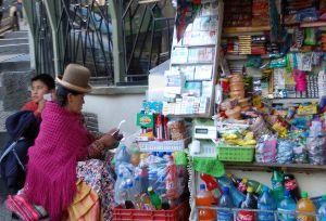 Kiosk i La Paz