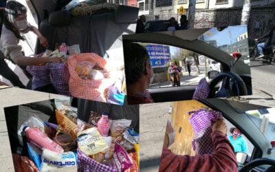 Blokader gir matmangel Bolivia – Rødstrupe deler ut matposer