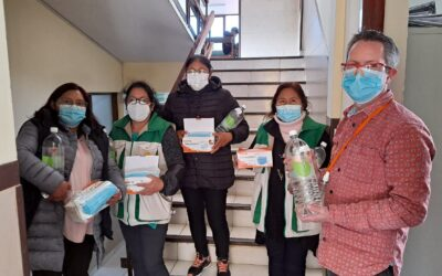 Personlig Verneutstyr (PVU) til helsesenter i La Paz